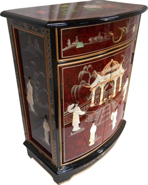 hall chests and cabinets french red oriental round front hall cabinet asian