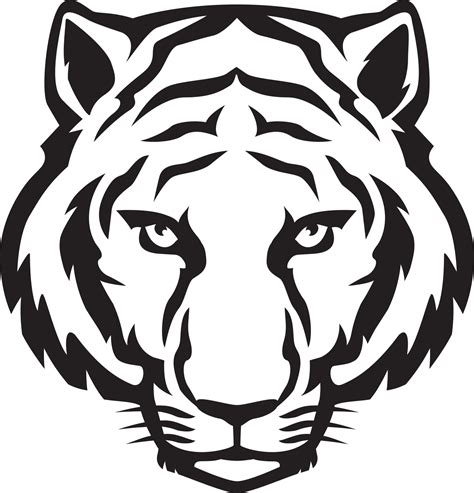 tiger pattern logo tiger logo design template files line art pinterest