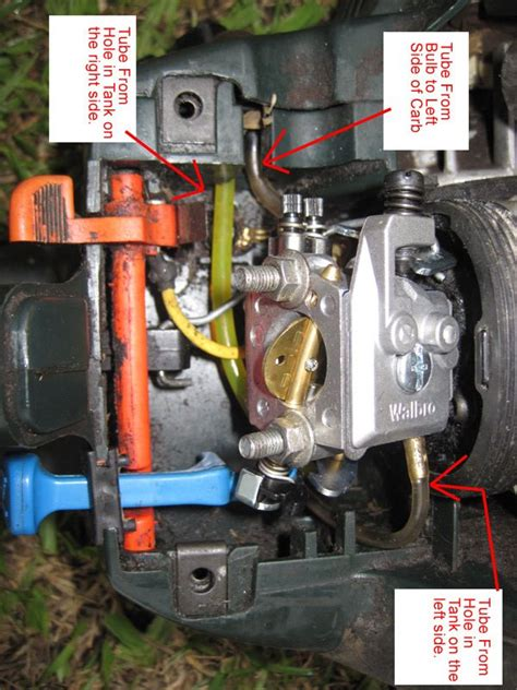 poulan chainsaw fuel line routing diagram chainsaw carburetor diy forums