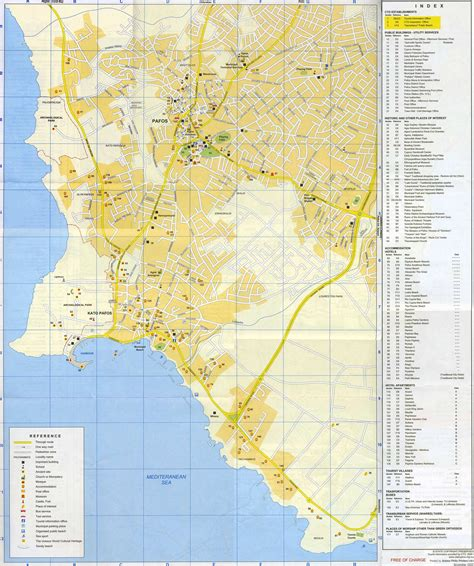 Napa Bed And Breakfast Large Paphos Maps For Free Download And Print High