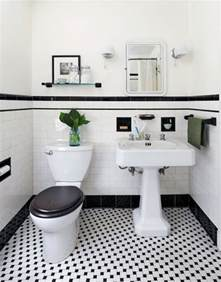 vintage black and white bathroom ideas 31 retro black white bathroom floor tile ideas and pictures