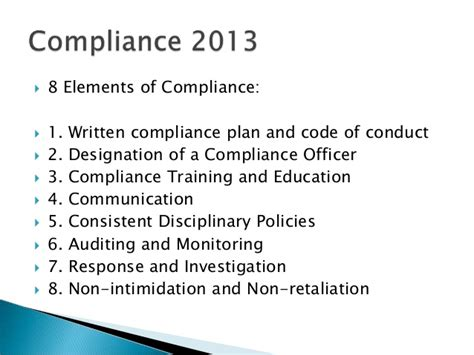 How To Become A Compliance Officer by 2013 Compliance Ppt