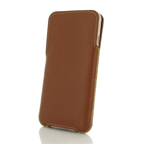 Pouch Iphone 6 Plus iphone 6 6s plus leather pocket pouch brown pdair sleeve
