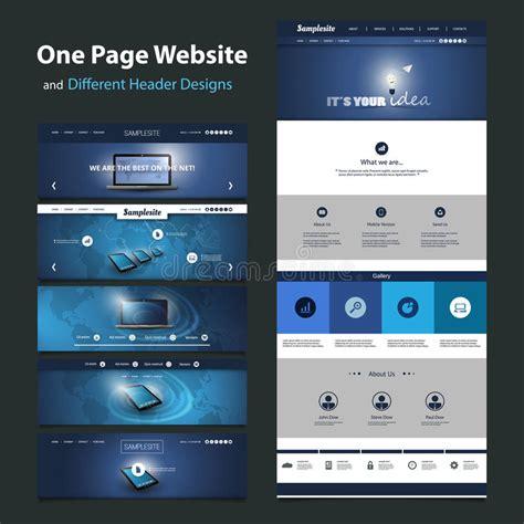 website header design creator one page website template and different header designs