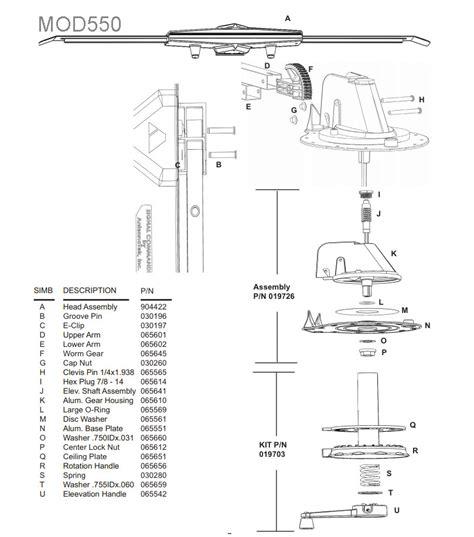 caravansplus spare parts diagram antennatek signal commander 550 tv antenna