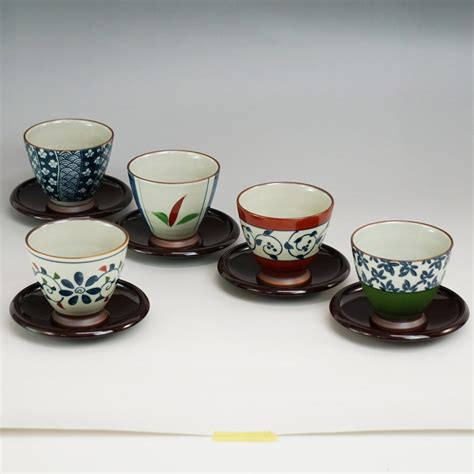 Tea Cup 5 by New Japanese Tea Cup Tray 5 Pcs Set Yunomi Made In Japan