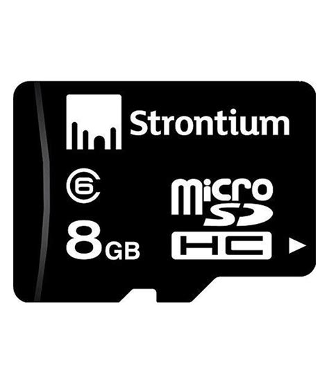 Memory Micro Sd 8gb Class 6 Strontium 8gb Micro Sd Memory Card Class 6 Memory Cards At Low Prices Snapdeal India