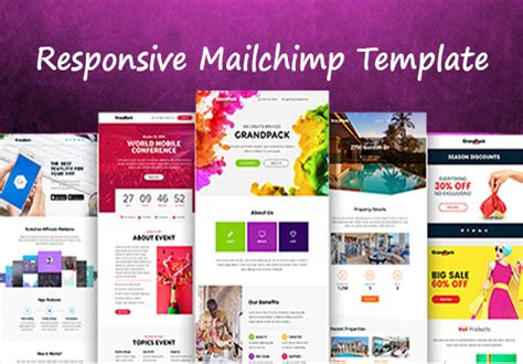 mailchimp mobile templates design responsive mailchimp template for 163 5 azher