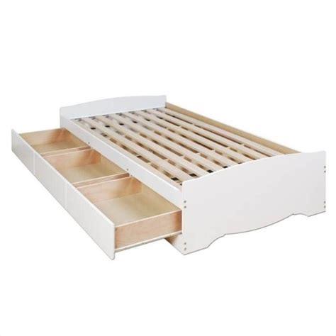 white platform storage bed wood storage drawers wood