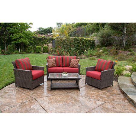 walmart better homes and gardens furniture better homes and gardens rushreed seating 4 patio conversation set seats 4 walmart