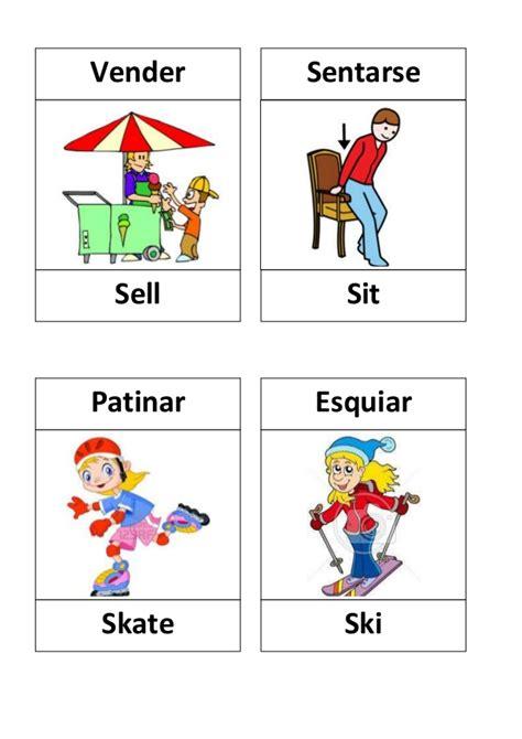 Imagenes En Ingles Verbos | verbos en ingles con dibujos verbs lists regular