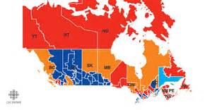 electoral map of canada election results