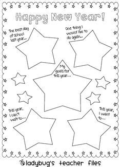 new year writing lesson happy new year goal setting activity for students a