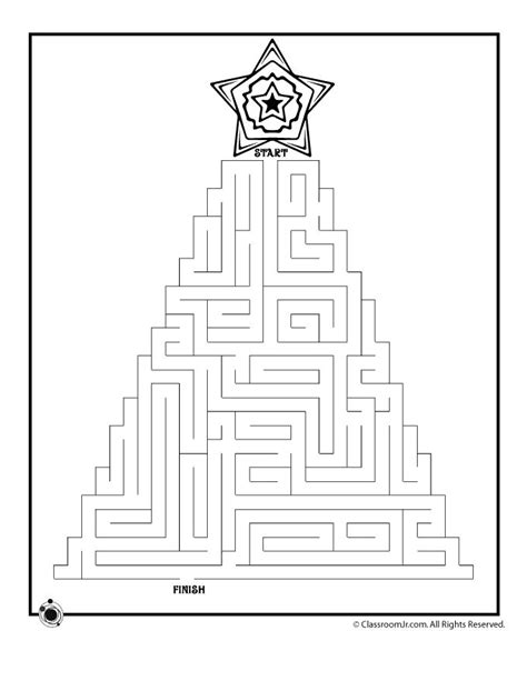 Printable Christmas Maze Worksheets | christmas maze kids church printables pinterest