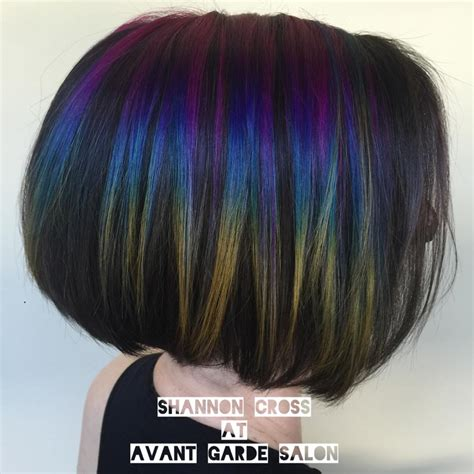 iridescent hair color how to create slick hair tricoci of