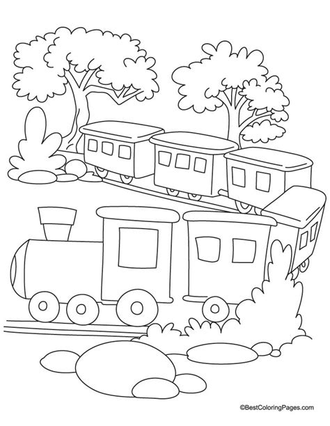 coloring pages of trains with cars car coloring pages coloring home