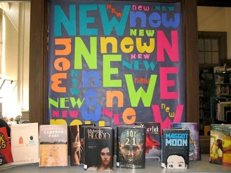 new year board book new books display school library decorations