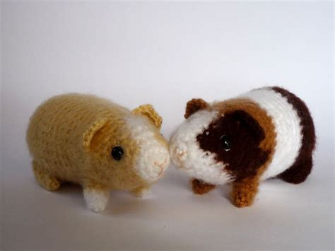 pattern crochet guinea pig guinea pig plushie realistic crocheted toy