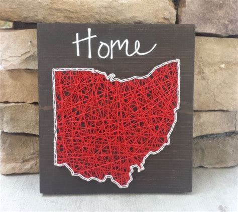 Ohio String - ohio string home state sign string home and the
