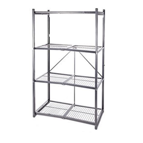 origami shelving unit origami 4 tier collapsible shelving unit qvcuk