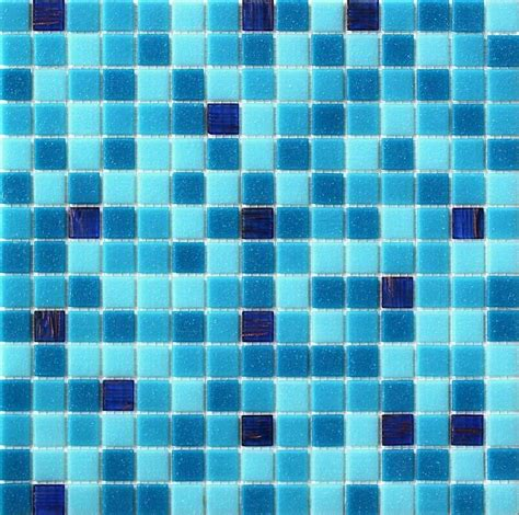 Blue glass tiles is the best solution for creating
