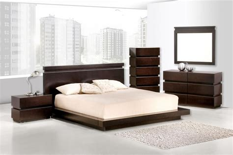 Contemporary Dark Wood Bedroom Furniture Homefurniture Org Modern Bedroom Furniture
