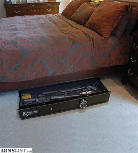 under bed rifle safe armslist for sale war dog biometric under bed gun safe