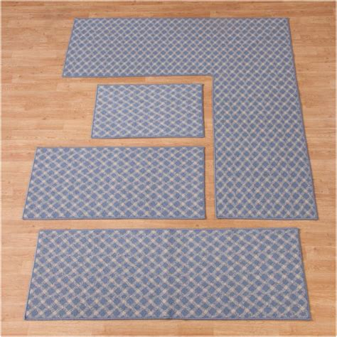 l shaped rugs kitchens uniques shop non slip rug 24x68 l shape blue pricefalls