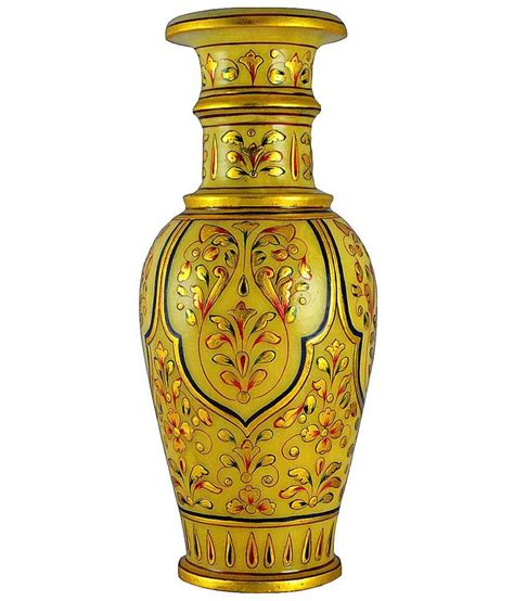 home decor handicrafts marble vases gold painted kraft mart marble vase gold painted buy kraft mart marble