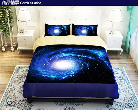 cool bedding aliexpress buy cool blue starry sky universe bedding