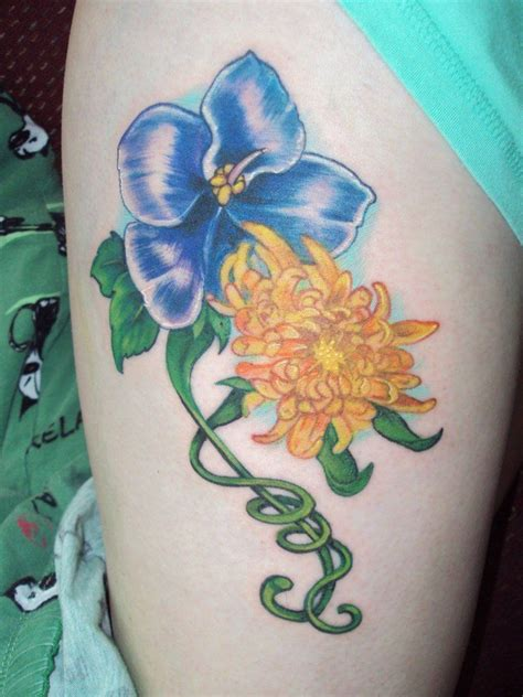 blue scarab tattoo violet and chrysanthemum by keith porter blue scarab