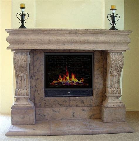 fireplace mantels los angeles raised acanthus cast mantel mediterranean