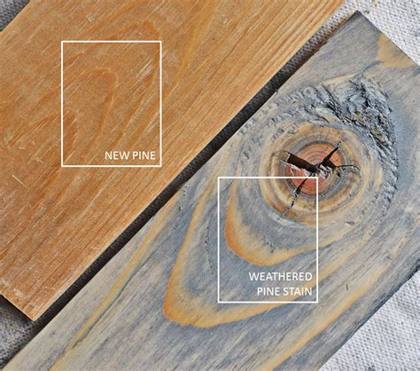 Faux Barn Wood Painting Techniques - weathered pine stain ana white woodworking projects