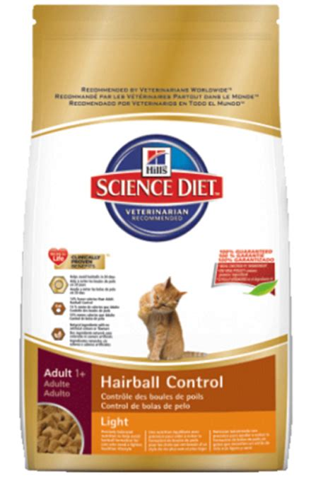 science diet light cat food hill s science diet hairball control light dry cat