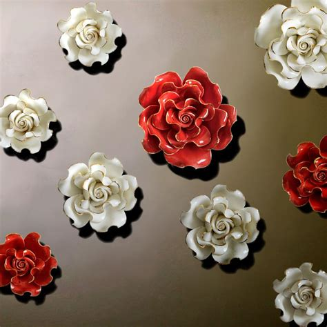 decorative flower wall decor beautiful ceramic flower wall decor ceramic