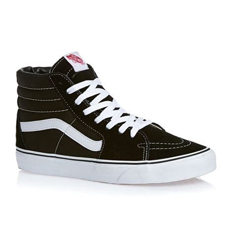shoes vans vans sk8 hi shoes black free uk delivery on all orders