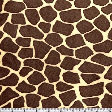Giraffe Print Upholstery Fabric by Shannon Minky Cuddle Giraffe Butter Brown Discount