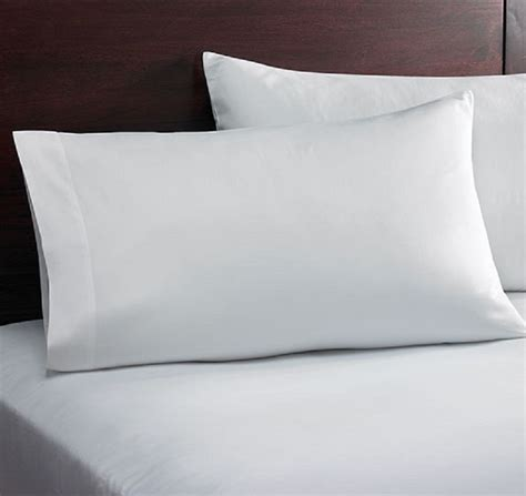 pillow casses 1 white king size pillowcase 20x40 t200 percale cvc crisp