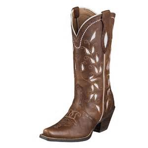 ariat womens sonora cowboy western boot bitterwater brown