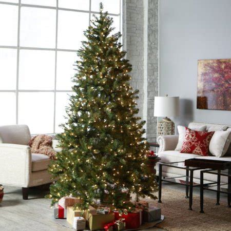 9 foot christmas tree with power pole gerson hawthorne pine prelit artificial tree with power pole walmart