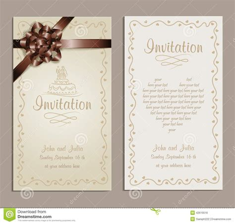 Congratulation Letter Wedding Invitation Wedding Invitation Stock Vector Image 42619516