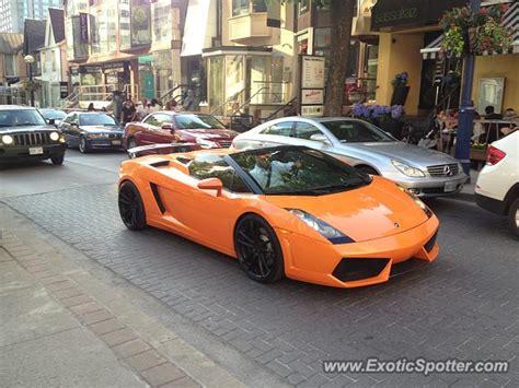 Lamborghini In Toronto Lamborghini Gallardo Spotted In Toronto Canada On 05 24 2014