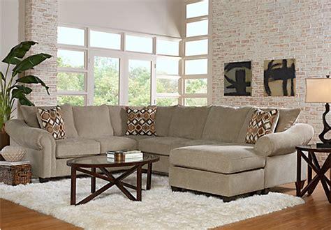 rooms to go harker heights harker heights platinum 2 pc left sectional living room sets beige