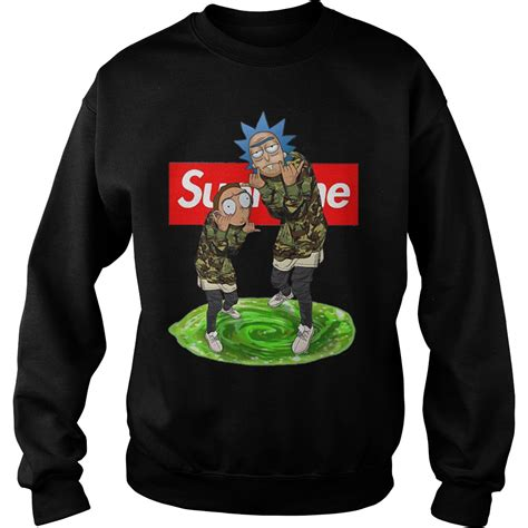 supreme clothing buy official supreme rick and morty hoodie t shirt and