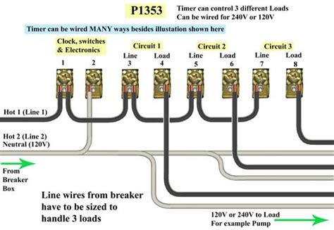 circuit p1353 timer 350 wiring diagram intermatic clock