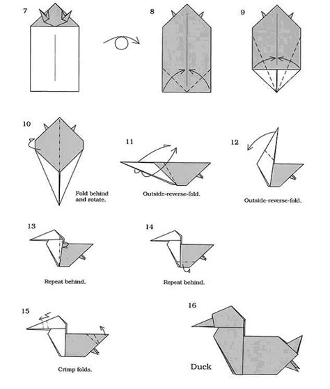 How To Make Duck From Paper - free coloring pages origami duck 101 coloring pages