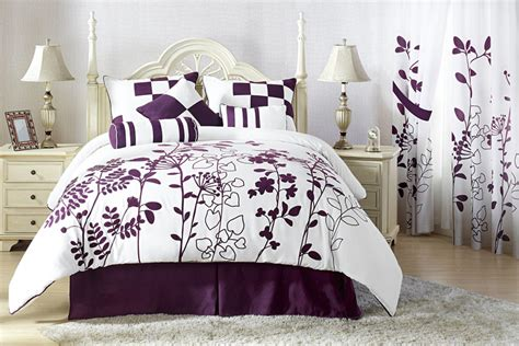 white and purple comforter sets 7pcs full renee purple and white bedding comforter set ebay