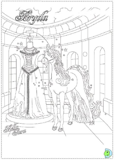 bella sara coloring pages images