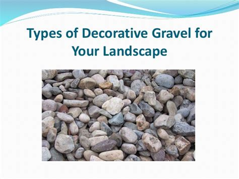 Types Of Decorative Gravel by Types Of Decorative Gravel For Your Landscape