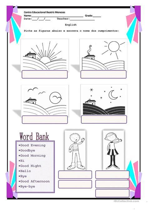 greetings worksheets for greetings worksheet free esl printable worksheets made